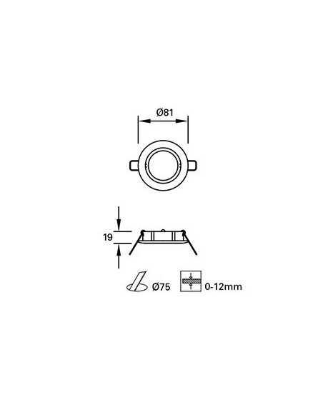 Ampoule E27 LED 17064 FARO standard led 8w 5000k