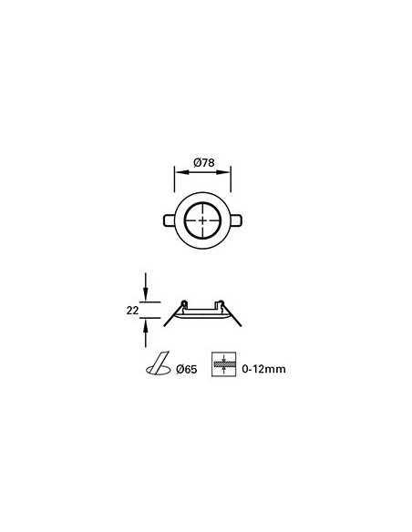 Ampoule R7S LED 17600 FARO jp78mm 4,5w 2700k