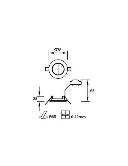 Ampoule GU10 LED 17320 FARO 8w 2700k 60°