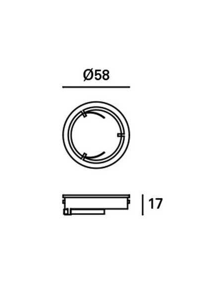 Ampoule GU10 LED 17325 FARO 8w 4000k 60° noire