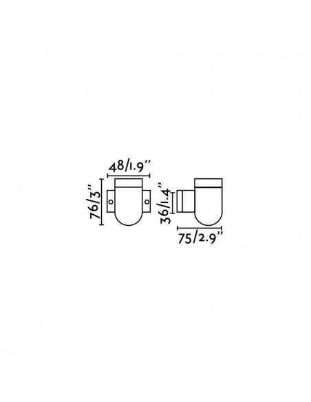 Accessoire FARO 33948 bar 40 cm chromé mate