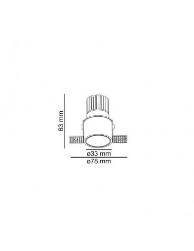 Spot encastrable FARO ARGON 43403 orientable carré blanc 2xGU10