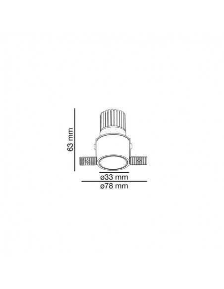 Spot encastrable FARO ARGON 43403 orientable carré blanc 2xGU10