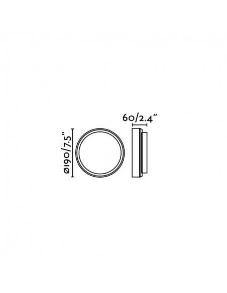 Applique moderne FARO DIULA 62987 diula-1 nickel mat 1l e27