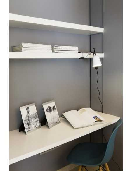 Lampe bureau moderne FARO GRU 51916 gru blanc 1 x e27