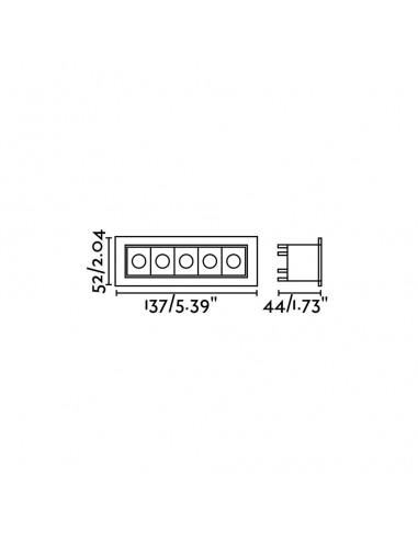 Applique extérieur led FARO CANON 70567N blanc mat 4w 3000k IP44