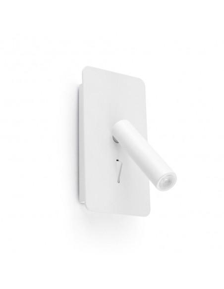 Applique moderne FARO SWEET 29936 nickel mat abat-jour blanc E27