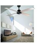 Ventilateur de plafond moderne FARO JACA 33175 jaca ø107 cms 4 pales gris 3l e14