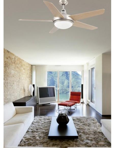 Ventilateur de plafond FARO IBIZA 33287 ibiza ø 132cms nickel mat avec télécommande