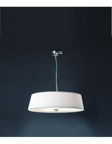 Ventilateur de plafond moderne FARO OVNI 33137 ovni ø132cm nickel mat 2l e27 avec télécommande